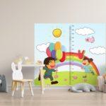 """Rigla decorativa pentru perete RAINBOW  """"Boy &  Girl"""""""