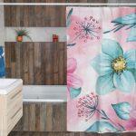 """Perdea duș """"Floral Pinkl"""""""