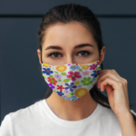 """Masca Textila Design """"Floral"""" 3"""