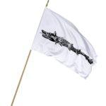 Steag Lupul Dacic fundal alb