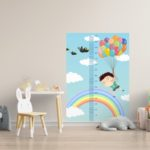 "Rigla decorativa pentru perete ""Over the rainbow"""