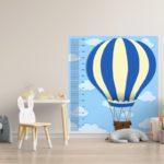"""Rigla decorativa pentru perete """"Balon cu aer cald"""""""
