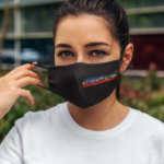 "Masca Textila ""Dacica"" neagra"