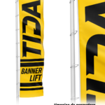 Catarg Aluminiu Banner Lift