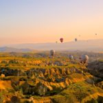 "Fototapet autoadeziv ""Apusul in Cappadocia"""